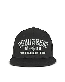 Lurex Embroided Signature Black Baseball Hat - DSquared