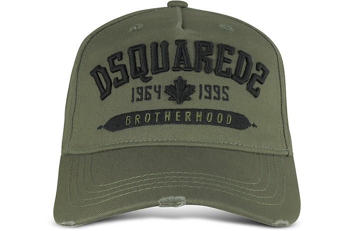 1ccec6e3ffe DSquared2 Military Green Cotton DSQ2 Signature Baseball Cap at ...
