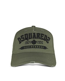 Military Green Cotton DSQ2 Signature Baseball Cap - DSquared