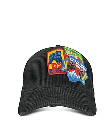 Black Velvet Patches Baseball Hat - DSquared