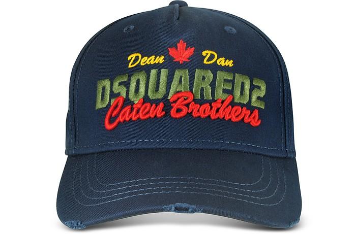 965458ffd Navy Blue Embroidered Cotton Baseball Cap