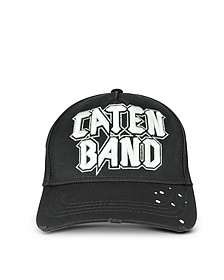 Caten Band Embroidered Cotton Baseball Hat - DSquared