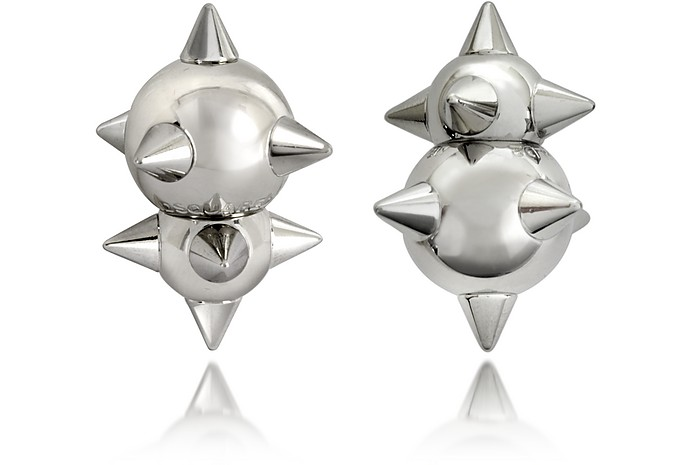 Pierce Me Palladium Plated Metal Spiked Earrings - DSquared2
