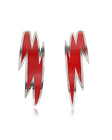 Brass and Red Enamel Thunder Earrings - DSquared2