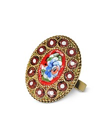 Golden Mosaic Ring - DSquared