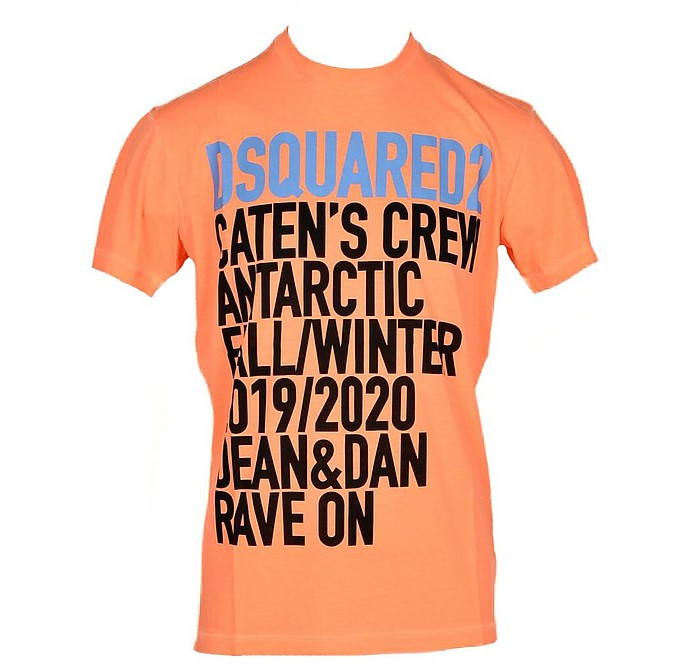 Men's Orange T-Shirt - DSquared2