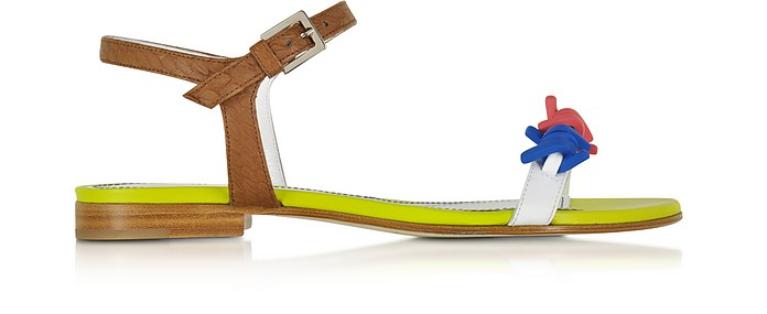 Babe Wire Multicolor Leather Flat Sandal - DSquared2