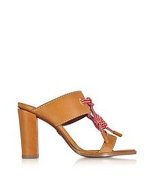 Camel Leather High Heel Sandals - DSquared2