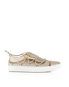 Golden Glitter Leather Sneakers - DSquared