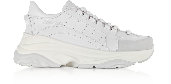 High Sole White Leather Women's Sneakers - DSquared2