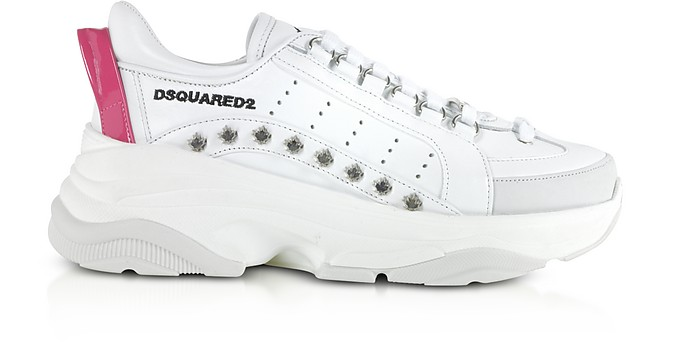 Bumpy 551 Studded Calf Leather Women's Sneakers - DSquared2