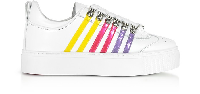 Leather Flatform Women's Sneakers - DSquared