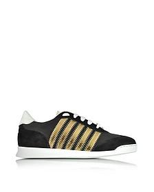 New Runner Black Fabric & Leather Sneaker  - DSquared2