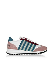 Color Block Suede and White Leather New Runner Hiking Women's Sneakers - DSquared2