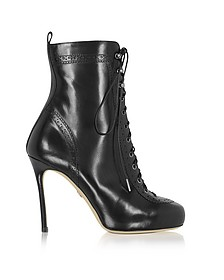 Black Leather Witness High Heel Ankle Boots - DSquared2