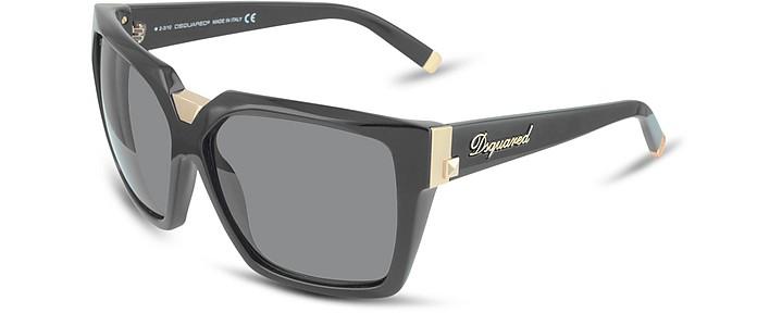 DSquared2 Black/Shaded Black Signature Acetate Square Frame ...
