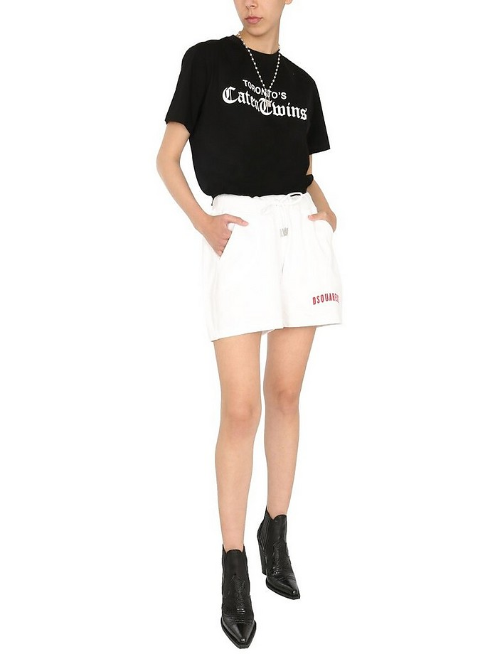 Over Fit Shorts With Logo - DSquared