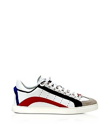 White Leather Men's Low Top Sneakers - DSquared2
