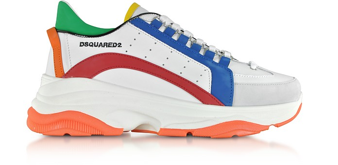 Bumpy 551 Gommato Leather Men's Sneakers - DSquared2 / ディースクエアード2