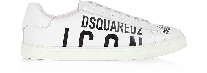 New Icon Calf Leather Low-Top Men's Sneakers - DSquared