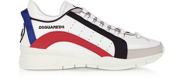 White Gommato Leather Men's Sneakers - DSquared