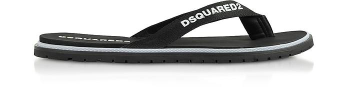 Men's Black Nylon Flip Flops - DSquared2