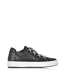 Asylum Black Leather Men's Sneaker - DSquared2