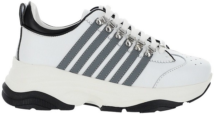 Whithe Low Top 251 Men's Sneakers - DSquared2