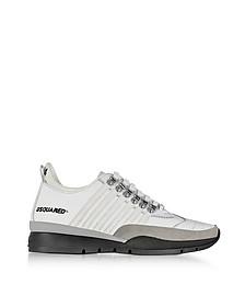 Sneaker 251 da Uomo in Pelle Grigio Polvere e Blu - DSquared2