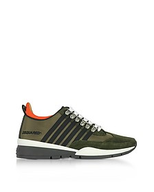 Military Green Tech Fabric Men's 251 Sneakers - DSquared2