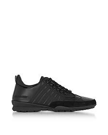 Sneaker 251 da Uomo in Nabuk e Pelle Total Black - DSquared2
