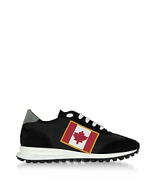 Suede New Running Hiking Sneakers in Nylon e Suede Nero - DSquared2