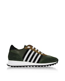 Green Leather and Suede New Running Hiking Men's Sneakers - DSquared2