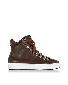 Sneakers High Top in Pelle Cuoio - DSquared2
