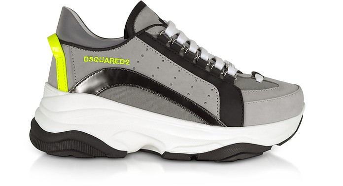 Gray Nabuck and Nylon Men's Sneakers - DSquared2