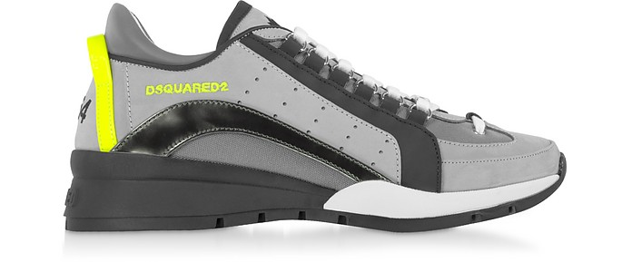 551 Dark Gray Nabuck and Nylon Men's Sneakers - DSquared2