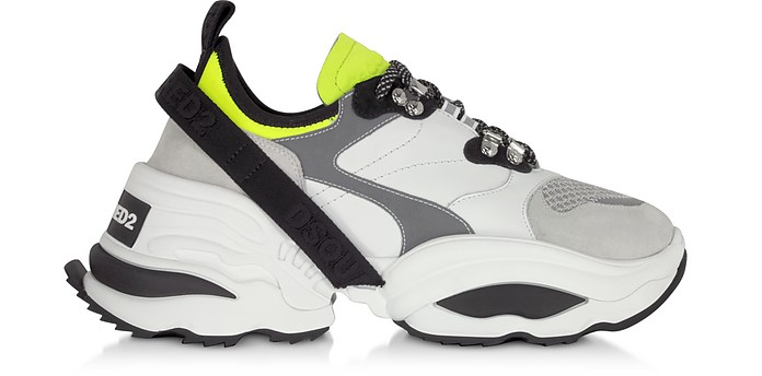 The Giant Calf Leather and Neoprene Men's Sneakers - DSquared2