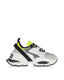 Calf Leather and Neoprene Men's Sneakers