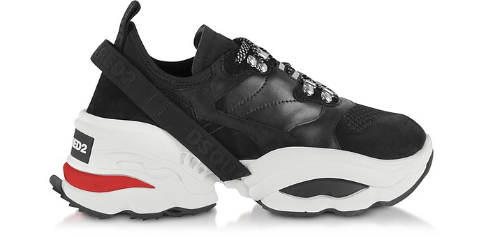 Mesh, Calf Leather and Neoprene Men's Sneakers - DSquared