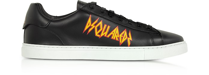 Punk New Tennis Sneakers w/ Rock Print - DSquared2