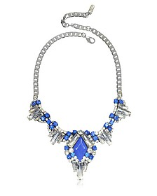 Electric Blue Crystals Necklace