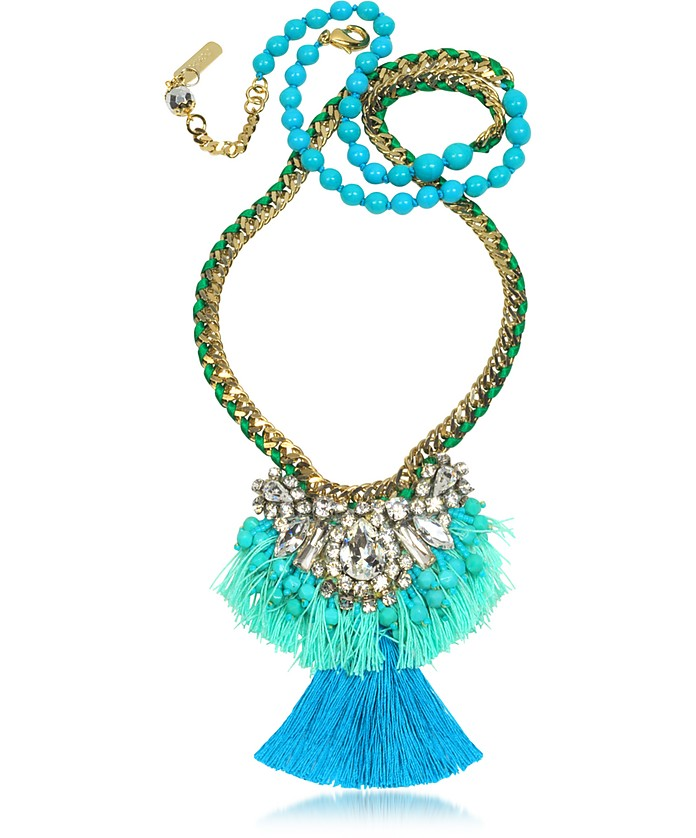 Emerald Green and Turquoise Long Necklace - Radà