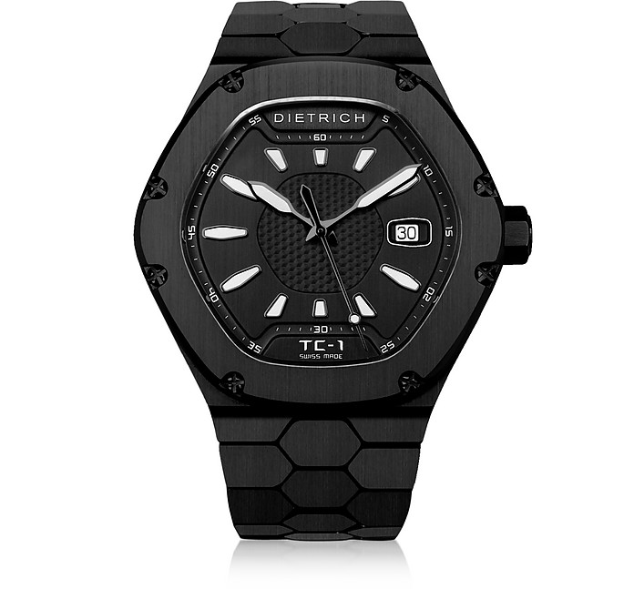 TC-1 PVD Stainless Steel w/White Luminova and Black Dial - Dietrich