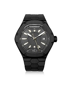 TC-1 Black PVD Stainless Steel w/White Luminova and Gray Dial - Dietrich