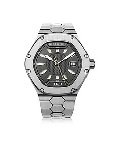 TC-1 SS 316L Steel w/White Luminova and Gray Dial - Dietrich