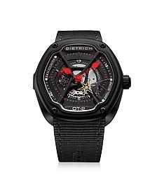 OT-2 316L Steel Men's Watch w/Red Luminova and Nylon Strap