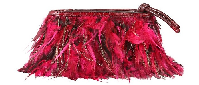 Pouch With Feathers - Dries Van Noten