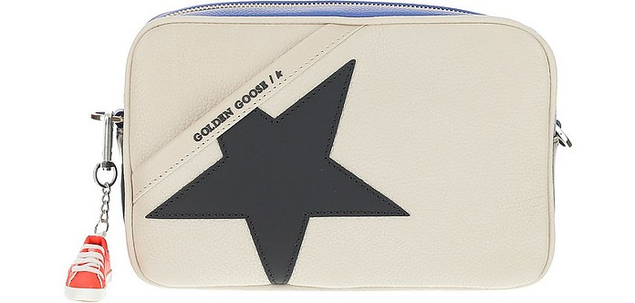 Leather Crossbody Bag With Black Star - Golden Goose