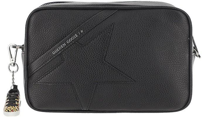 Black Grainy Camera Bag - Golden Goose
