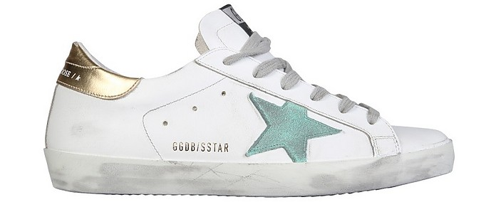 Superstar White Distressed Leather Women's Sneakers - Golden Goose / ゴールデングース